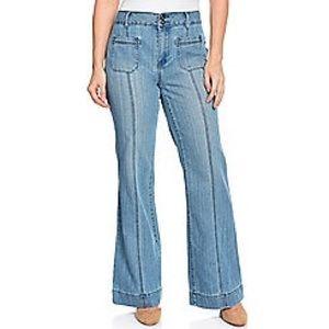 NWOT Indigo Thread Co. 4-Pocket Wide Leg Jeans